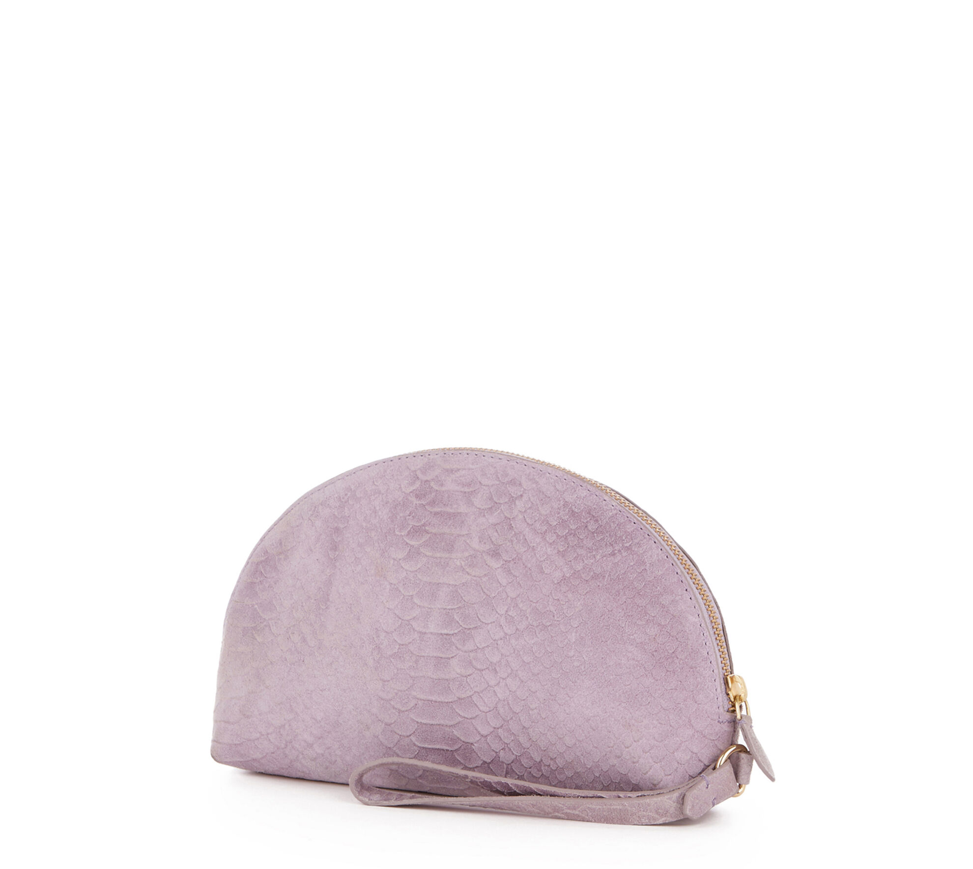 Warehouse, SUEDE EMBOSSED CLUTCH BAG Lilac 1