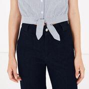 Warehouse, Stripe Cotton Tie Front Top Blue Stripe 4
