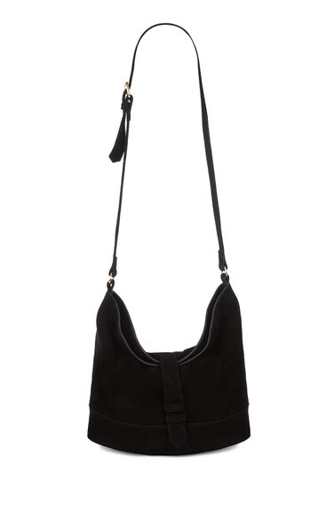 Warehouse, SUEDE SLOUCHY BAG Black 0