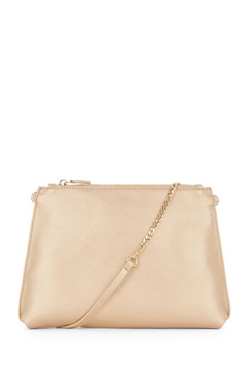 Warehouse, CHAIN STRAP CROSS BODY BAG Gold Colour 0
