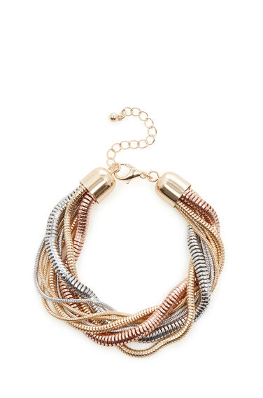 Warehouse, SNAKE CHAIN TWIST BRACELET Gold Colour 0