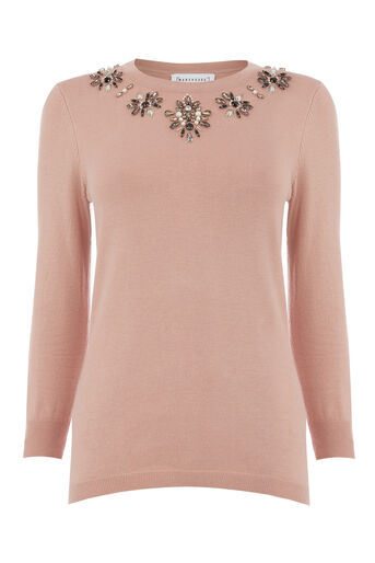 Warehouse, EMBELLISHED STATEMENT JUMPER Light Pink 0