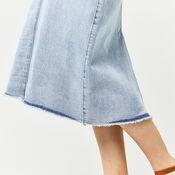 Warehouse, Bleached Maxi Skirt Bleach Denim 4