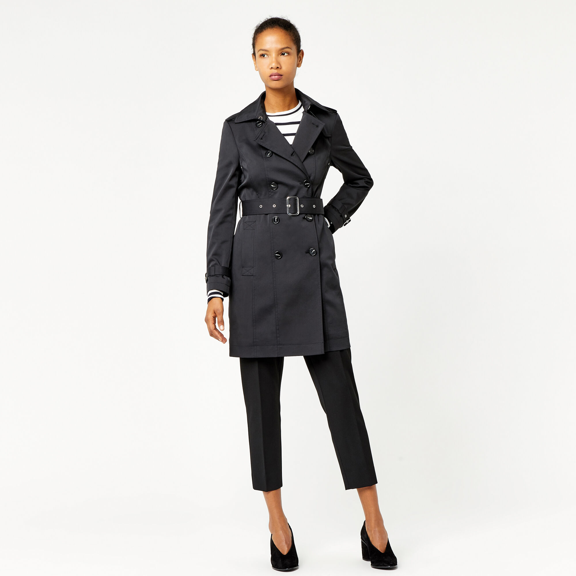 Warehouse, Classic Trench Black 1
