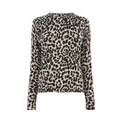 Warehouse, ANIMAL PRINT JUMPER Grey Pattern 0