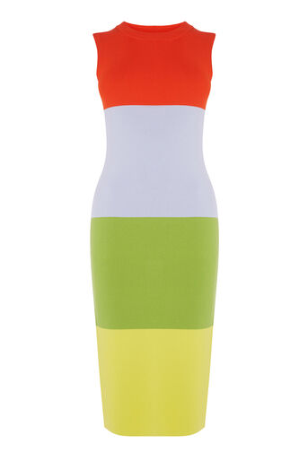 Warehouse, COLOURBLOCK SLEEVELESS DRESS Multi 0