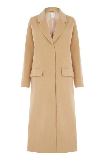Warehouse, Longline Duster Coat Camel 0