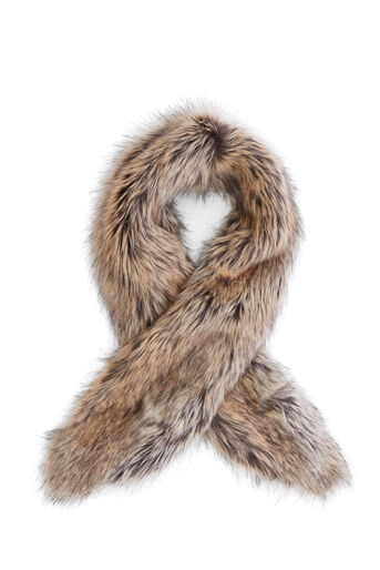 Warehouse, FAUX FUR COLLAR Beige 0