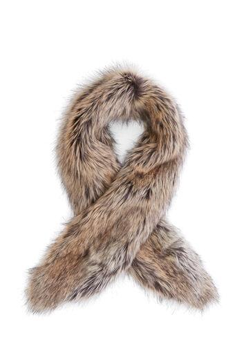 Warehouse, Korte sjaal van nepbont Beige 0