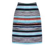 Warehouse, STRIPE JACQUARD SKIRT Multi 0