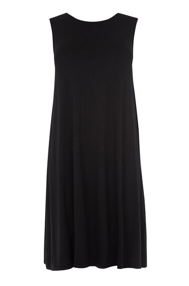 Warehouse, STRAP BACK SWING DRESS Black 0