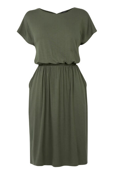 Warehouse, T SHIRT DRESS Khaki 0