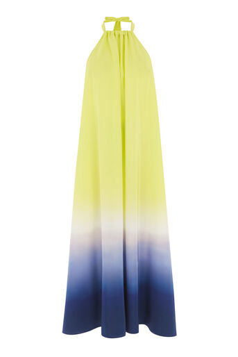Warehouse, DIP DYE HALTERNECK DRESS Yellow 0