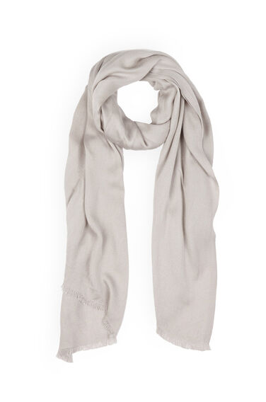 Warehouse, SATEEN WEAVE SCARF Light Grey 0