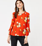 Warehouse, VICTORIA RUFFLE SLEEVE TOP Orange 3