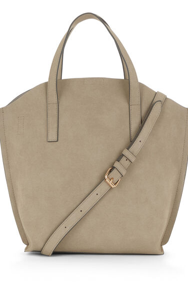 Warehouse, CURVE TOP TOTE BAG Light Grey 0