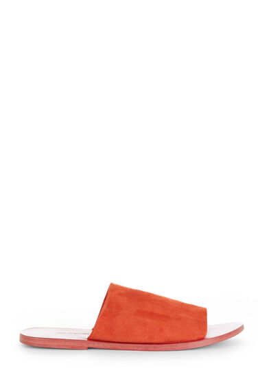Warehouse, SUEDE MULE SANDALS Bright Red 0