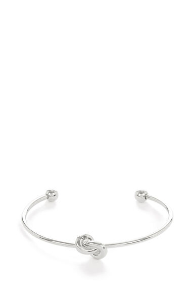 Warehouse, Twist Anchor Bangle Silver Colour 0