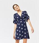 Warehouse, SWAN PRINT DRESS Blue Pattern 1