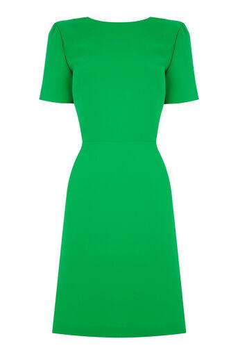 Warehouse, CROSS BACK DRESS Bright Green 0