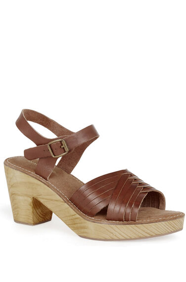 Warehouse, Criss Cross Clog Tan 0