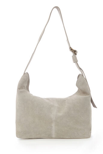 Warehouse, SUEDE SLOUCHY BAG Light Grey 0