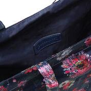 Warehouse, Zip Around Shopper Bag Blue Pattern 4