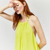 Warehouse, DIP DYE HALTERNECK DRESS Yellow 4
