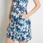 Warehouse, Shadow Leaf Textured Dress Multi 4