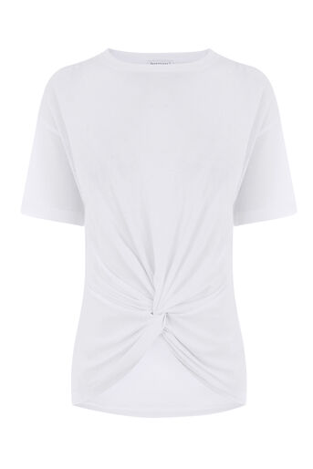 Warehouse, KNOT FRONT TEE White 0