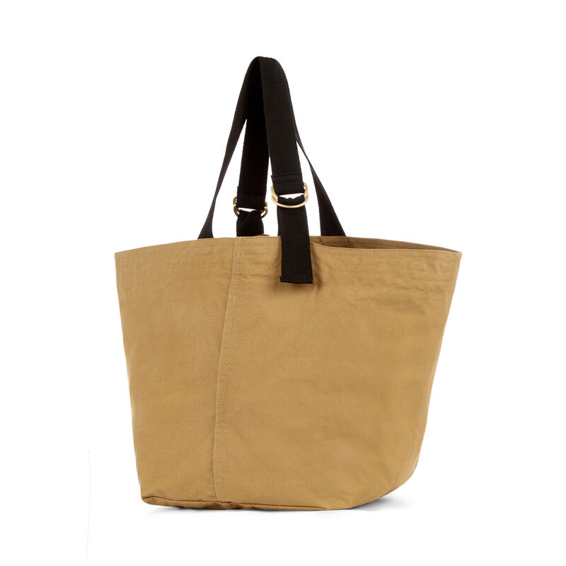 Warehouse, D RING CANVAS TOTE BAG Camel 1