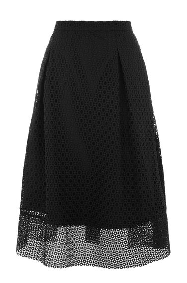 Warehouse, LINEAR SKIRT Black 0