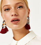 Warehouse, Resin Tassel Earrings Multi 1