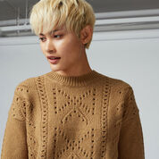Warehouse, BOW POINTELLE JUMPER Camel 4