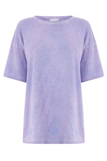 Warehouse, Hyperglanzend T-shirt Lichtpaars 0