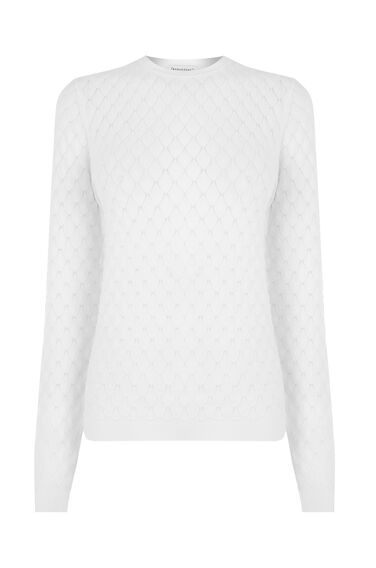 Warehouse, SCALLOP STITCH JUMPER Cream 0