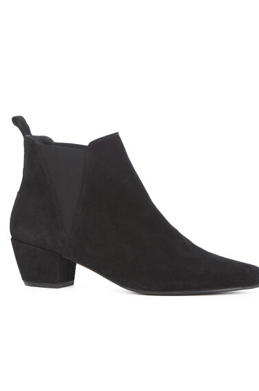 Warehouse, Suede Ankle Boot Black 0