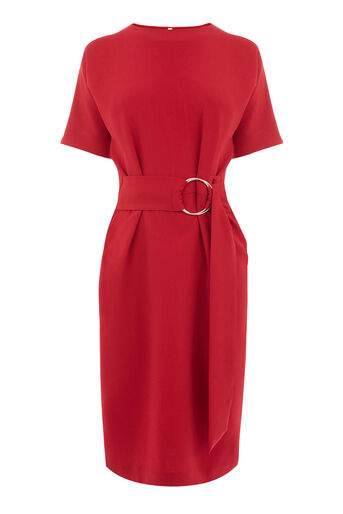 Warehouse, O RING DRESS Dark Red 0