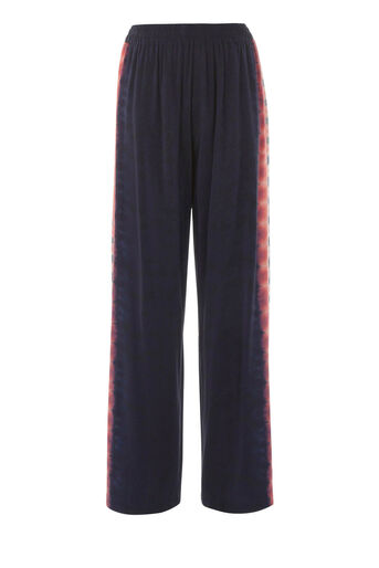 Warehouse, SILK TIE DYE TROUSERS Navy 0