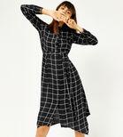 Warehouse, CHECK HANKY HEM SHIRT DRESS Black Pattern 1