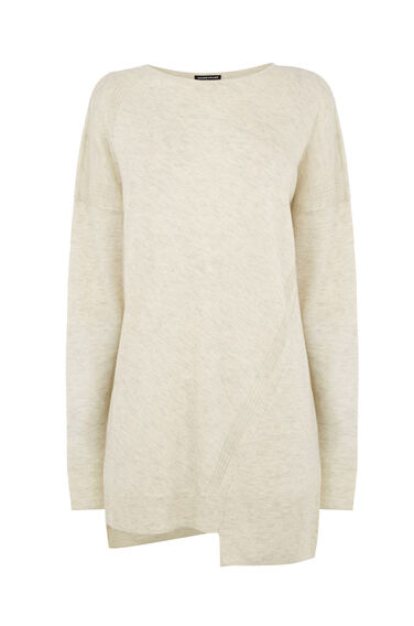 Warehouse, STEP HEM JUMPER Cream 0