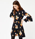 Warehouse, VICTORIA FLORAL BABYDOLL DRESS Navy 3
