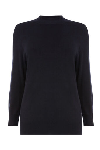 Warehouse, FUNNEL NECK JUMPER Navy 0