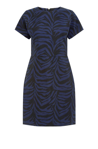 Warehouse, Zebra Jacquard Dress Multi 0