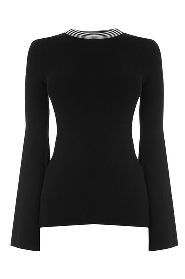 Warehouse, MONO TIE BACK JUMPER Black 0