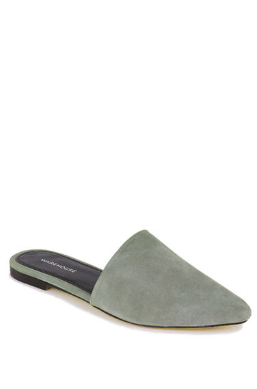 Warehouse, Backless Slip On Shoe Light Grey 0