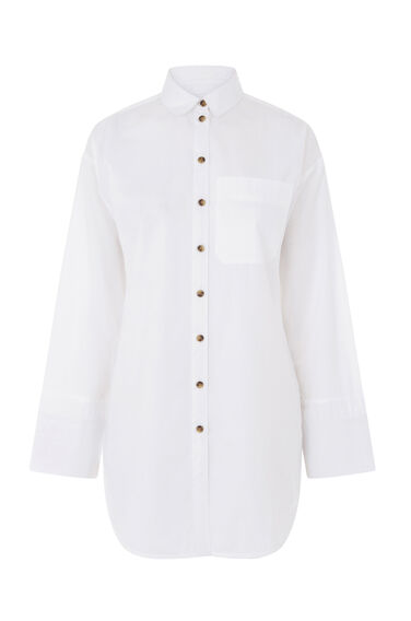 Warehouse, CLASSIC COTTON SHIRT White 0