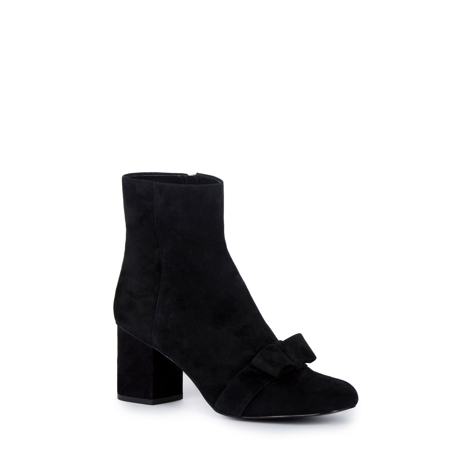 Warehouse, Bow Detail Block Ankle Boot Black 1