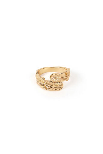 Warehouse, FEATHER RING Gold Colour 0