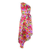 Warehouse, PANSY POP SILK DRESS Multi 0